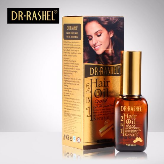 gold hair oil with keratin